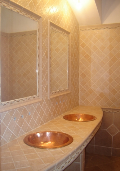 renovation salle de bain travertin